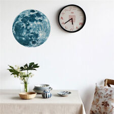 5cm 3D Large Moon Fluorescent Wall Sticker Removable Glow In The Dark Sticker E7