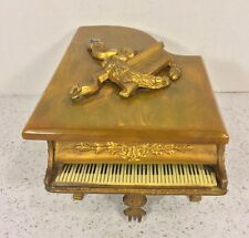 Vintage Grand Piano Music Box Thorens Swiss Gold Gilt Piano w/ Keyboard Bakelite