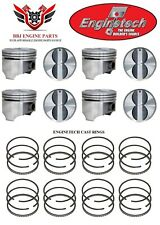 Chevy Chevrolet 307 Sbc Enginetech Flat Top Pistons And Piston Rings 1968 - 1973