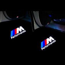 2Pcs Car Door M Performance Logo Projector Emblem For BMW