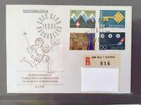 SWITZERLAND FDC 14.3 1968 HELVETIA Olympic Chess Lugano Frauen Alpen Club