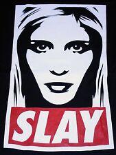 """""""Slay"""" Buffy The Vampire Slayer Parody Women's Xxxl Shirt Teevillain"""