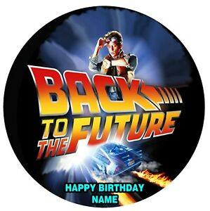 Back To The Future Edible Image icing cake topper party decoration movie