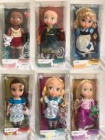 Disney Store Animator Doll Tangled, Cinderella, Moana, Belle, Merida, Alice 39cm