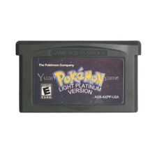 Nintendo GBA Video Game Cartridge Console Card Pokemon Series Light Platinum Eng