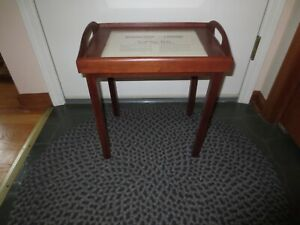 """New SUDBERRY HOUSE Needlework SERVING TRAY w/Legs--12.25"""" x 16.25"""" - 18.75 High"""
