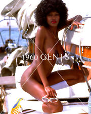 1970s NUDE 8X10 PHOTO BUSTY HUGE NIPPLES CAMELLA DONNER FROM ORIGINAL NEG-CD1