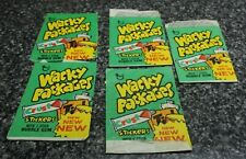 Topps Wacky Packages Green Wrapper Lot of 5 Pieces New 1974  0-407-85-01-4