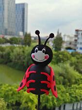 Cute Black Lady beetle Antenna Balls Car Aerial Ball Antenna Topper Decor Ball