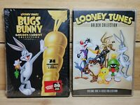Looney Tunes DVD Lot Bugs Bunny Golden Carrot & Golden Collection Vol 1 Sealed