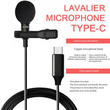 Universal Type-C Usb Mini Lavalier Lapel Microphone Clip-on Mic Mobile Phone