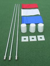 3 HOLE GOLF PKG - 3 FLAGS - 3 FLAGSTICK - 3 ALUMINUM CUPS - 3 STABILIZER PLATES