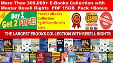 300,000+ E Books PLR Collection with MRR PDF+2000 Ebooks +3 Million Emails 15GB+