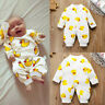 Toddler Newborn Baby Boy Girl Cartoon Romper Bodysuit Jumpsuit Outfit Clothes