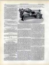 1892 Horizontal Boring And Drilling Machine Sharp Stewart Atlas Works Glasgow