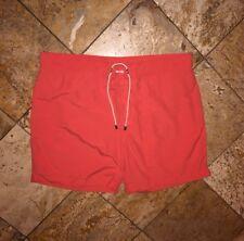 NWT $98 J.McLaughlin Hermosa Swim Trunks Shorts Savannah Sun Orange Men's 40