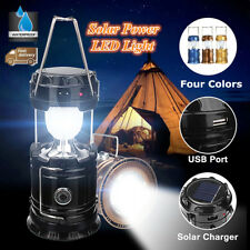 Solar Rechargeable LED Flashlight Power Camping Tent Light Torch Lantern Lamp