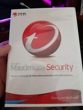 Trend Micro Maximum Security Titanium -  PC CD ROM - FREE POST