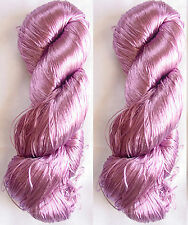 New Silk 2 PLY Skeins Yarn Lace Crochet 230g Woven Thread Knit Work Sari Fabric