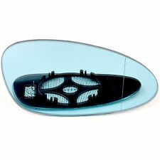 Right for Porsche 928, 968 91-95 Wide Angle heat Blue wing door mirror glass