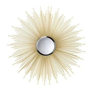 """Large Accent Plus Golden Rays Mirror - 31.5"""" X .8""""x 31.5"""""""