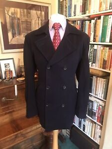 Turnbull & Asser Double Breasted Navy Pea coat