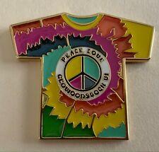 2008 Peace Love in Geowoodstock VI Tie Dye Geocoin