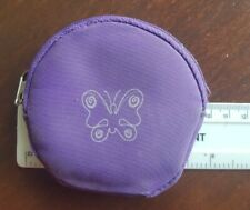 Purple coin purse with butterfly
