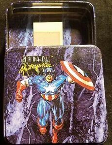 1992 SKYBOX MARVEL MASTERPIECES SERIES 1 EMPTY TIN NO CARDS / CAPTAIN AMERICA