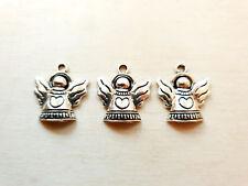 3 x Schutzengel Schmuckanhänger ♥ Geschenkdeko ♥ Weihnachten Charms Silber