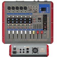 Pro 7 Channel 1600W Power Amplifier Audio Mixer Mixing Console Bluetooth USB DSP