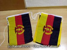 Fahnen Flagge Flaggenkette DDR 6 Meter Lang