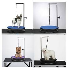 Small Pet Round Rotating Grooming Tables - Dog Groomer Table for Smaller Pets