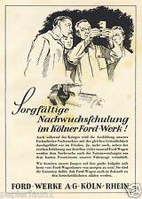 Ford Werk Köln Reklame 1942 WK WW 2 Meister Lehrling Krieg Front Fronteinsatz ad