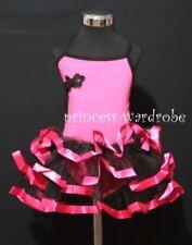 Hot Pink Ballet Leotard Black Hot Pink Tutu Dress 2-7Y