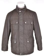 NEW COACH MEN'S $448 82749 FATIGUE BROWN HOODED MILITARY FIELD RAIN JACKET~M