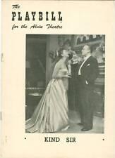 Playbill Kind Sir Mary Martin Charles Boyer perry como
