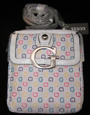 GUESS Logo Blanc Multicolore G Primary Sac Cartable Baguettes Bag Purse New