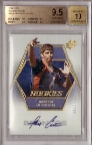 JAY CUTLER RC 2006 UD SPX GOLD AUTO #/299 (0257/1299) BGS 9.5 WITH A 10 AUTO