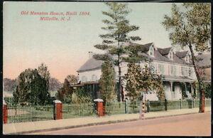 MILVILLE NJ Old Mansion House Antique 1917 Postcard Vtg New Jersey PC