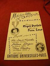 Partition Médaille d'amour Cha Cha cha Jean Lano Romano Cha Cha Macario