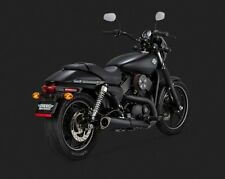 Vance and Hines Competition Series Matte Black Slip On Muffler for Harley Street