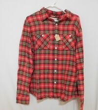 Ralph Lauren Men red Plaid Cotton Twill Workshirt -  Extra Large XL NEW