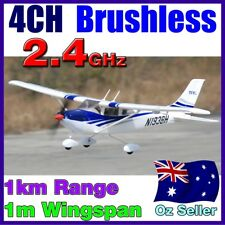 Brushless 4CH Cessna 182 LiPo RTF RC Electric Plane Airplane 2.4GHz Blue 4 Servo