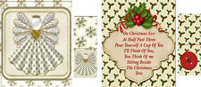 Vintage inspired Christmas tea bag envelopes party favors gift set of 6