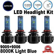 High Low Beam 2pair 9005 + 9006 LED Headlight 8000K Xenon Combo Light Bulbs