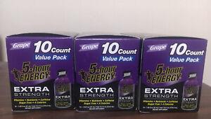 5 Hour Energy Extra Strength Grape Energy Shot 1.93oz Three Boxes New Exp 12/22