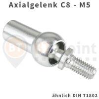 Axialgelenk C8 M5 DIN71802 verzinkt Axial Gelenk Kugel Pfanne Axialkugelpfanne