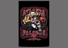 Rare Atlanta Falcons GRINDING IT OUT SINCE 1966 NFL Theme Art Logo POSTER