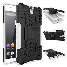 For Sony Xperia C5 Ultra Case Hybrid Dual Layer Shockproof Stand Phone Cover